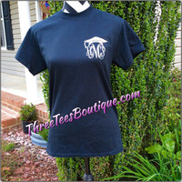 Monogram Class of 2015 T-Shirt Monogram Graduation TShirt Glitter T-Shirt Graduation Cap with Monogram Tee Shirt Glitter Monogrammed Gifts