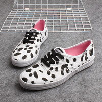 """Keds"" Cows Speck Print Low Help Shoes Canvas Shoes Flats Shoes Women Shoes"