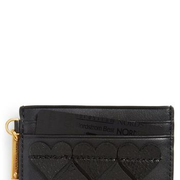MARC JACOBS Heart Leather Card Case | Nordstrom