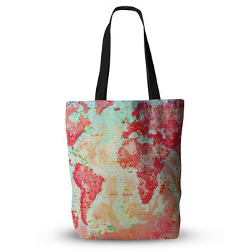 "Alison Coxon ""Oh The Places We'll Go"" World Map Everything Tote Bag"