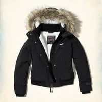 Girls Hollister All-Weather Stretch Bomber Jacket | Girls Jackets & Coats | HollisterCo.com