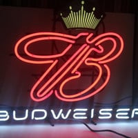 Vintage NEON Budweiser Sign, Large, Barware, Mancave, Antique Alchemy
