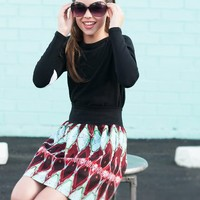 Ethnic Print mix Black and White Mod style Cool Tween Clothing