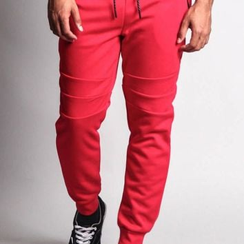 Basic Tech Sweat Pants with Contrasting Zippers 17321-1594 - G15H