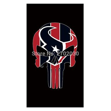 Skeleton Design Country Houston Texans Flag Banners Football Team Flags 3x5 Ft Super Bowl Champions Banner Texan Hanging