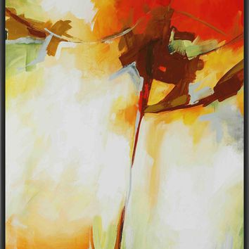 RED ARROW 22L X 28H Floater Framed Art Giclee Wrapped Canvas