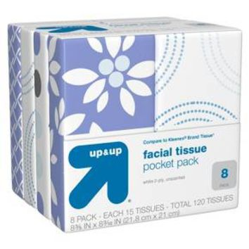 Facial Tissue Pocket Pack - 15 Count - 8 Pack - up & up™