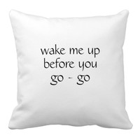 Wake me up pillow