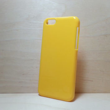 iphone 5c hard plastic case - Yellow (for decoden phone case)