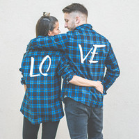 Gift for Couple, Couples gift, Plaid shirts for couples, Matching plaid shirts for couples, Gift for couples, Shirts gift for couples