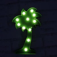 Palm Tree Lovers Marquee Sign LED Lamp