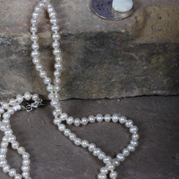 Freshwater Pearl Necklace with Coin Charm