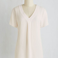 Fairytale Mid-length Short Sleeves Classy in Action Top