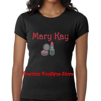 Mary Kay Rhinestone/Vinyl Combination with Make up Shirt