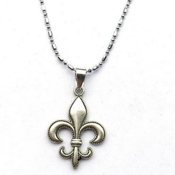 Fleur De Lis Necklace-Fleur-De-Lis Jewelry Gift For New  Orleans Saints