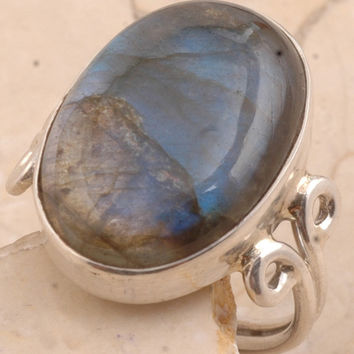 Dramatic Labradorite in 925 Sterling Silver