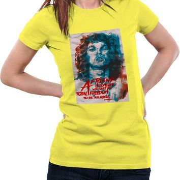 Jim Morrison A Friend is Someone Quote Woman T-Shirt