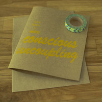 Humorous Card Blank Card Conscious Uncoupling Hand Pulled Screen Printed Card Paper Goods Humor Funny Breakup Card Joke Card