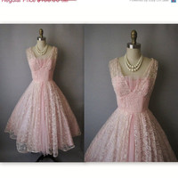 STOREWIDE SALE 50's Prom Dress // Vintage by TheVintageStudio