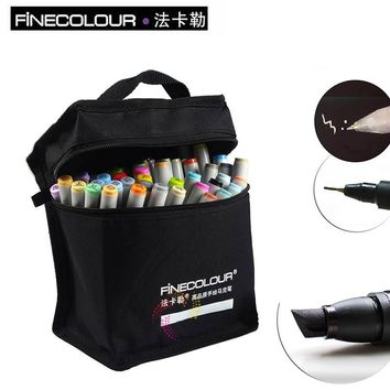 FINECOLOUR Marker Artist Double Headed Copic Sketch markers Set 36 48 Colors Copic Marker Alcohol Based Manga Art Markers