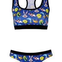 Looney Tunes Print Crop Top and Boypants - New In