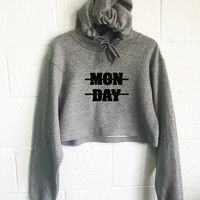 Monday Cropped Hoodie
