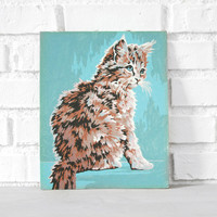Vintage Cat Painting Paint By Numbers | Midwinter Co.