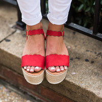 Daytime Adventures Wedges, Red