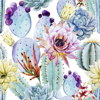 Watercolor Cactus Removable Wallpaper Decal