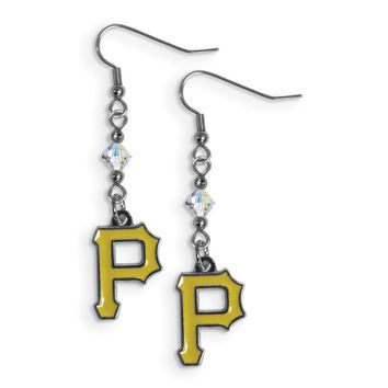 MLB Pittsburgh Pirates Crystal Dangle Earrings
