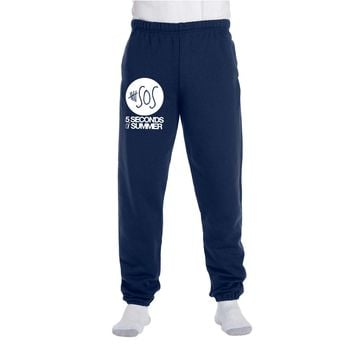 5 seconds of summer Fleece Pocketed Sweatpants
