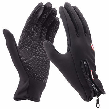 Windstopper Bike Cycling Gloves Outdoor Sports Snowboard Skiing Gloves Windproof Winter Gloves Thermal Warm Touch Screen Gloves