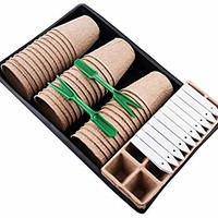 Plant Starter Kit   Everything You Need   Biodegradable Peat Pots, Peat Seed Starter Trays, PVC Plant Growing Trays, Gardening Tools & More!   Perfect Plant Cultivation Set for Gardeners or Classrooms