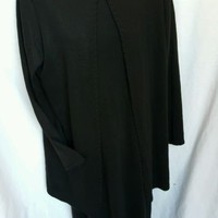 Lennie for Nina Leonard Size M  Black Sweater Dress and Over Sweater Gently Used