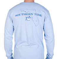 Florida Long Sleeve State Tee Shirt in True Blue by Southern Tide