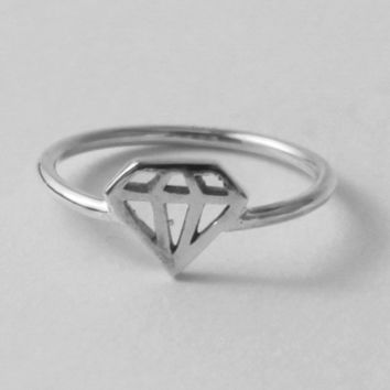 Diamond Ring Fun affordable sterling silver by HeartCoreDesign