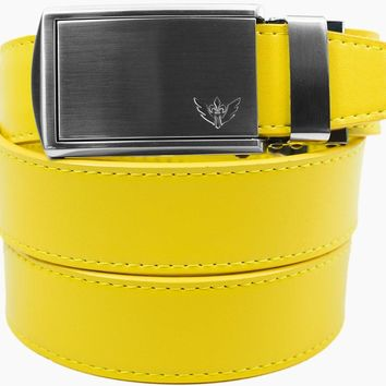 Yellow Leather Belts