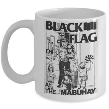 Black Flag 80's Punk Coffee Mug