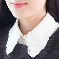 Lace Peter Pan Wednesday Addams Collar