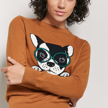 French Bulldog Graphic Sweater