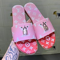Louis Vuitton LV Summer Popular Women Casual Slippers Sandals Shoes
