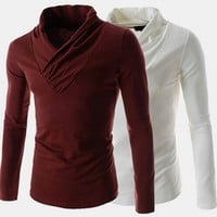 Men's Fashion Cowl Neck T-Shirt