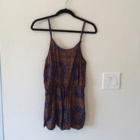 blue and gold romper