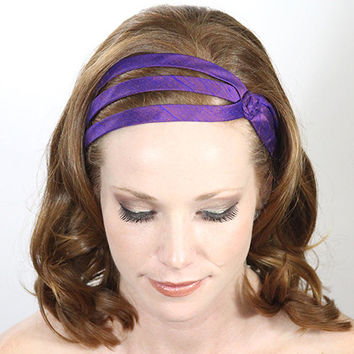 Purple headband , elegant hair band, head wraps , head bands