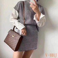 HCXX 19Aug 444 Louis Vuitton LV Petite Malle Hermes Kell Bag Causal Schoolbag