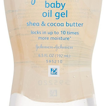 Johnson & Johnson Baby Oil Gel Shea & Cocoa Butter 6.5 Oz