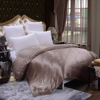 Mocha, Silk Comforter Cover, Milky Brown Silk Duvet Cover, Bed Cover, Luxury Bedding, Silk Charmeuse, Natural Fabric, Queen, King, Cal-King
