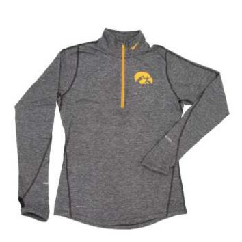 Iowa Hawkeye Women's Half Zip Dri-Fit Top by Nike