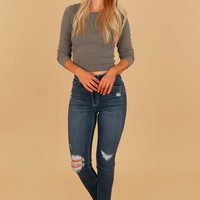 Distressed Skinny Jeans Dark