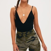 Khaki Camo Print Cycle Shorts